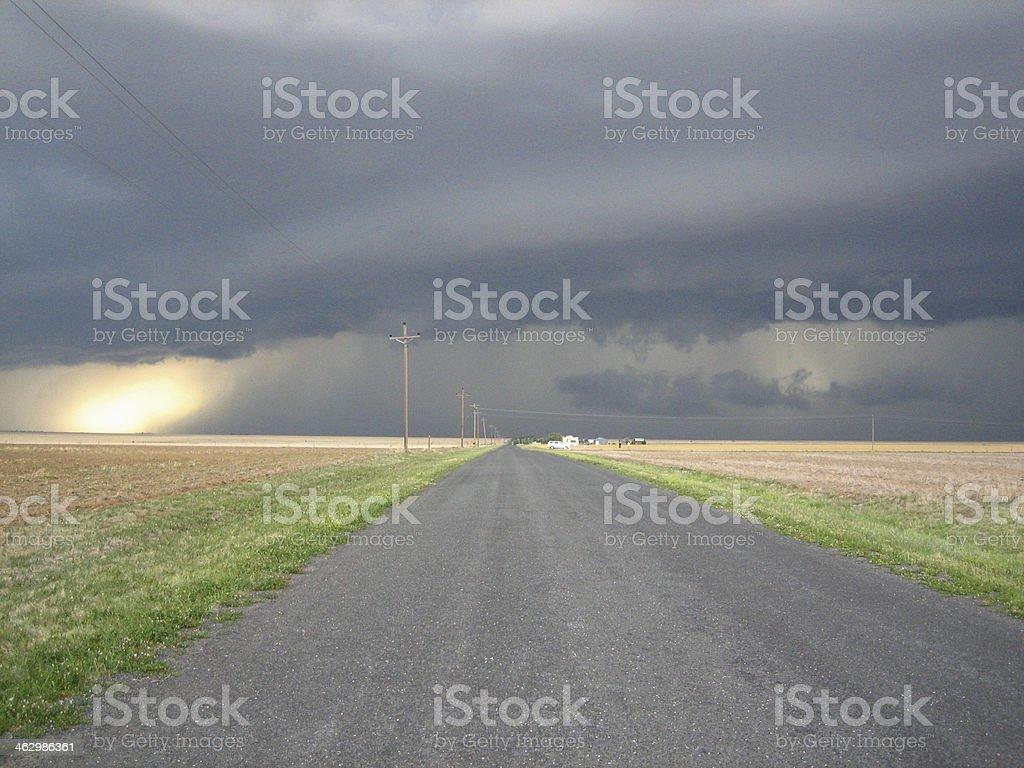 Colorado Super Cell Storm stock photo