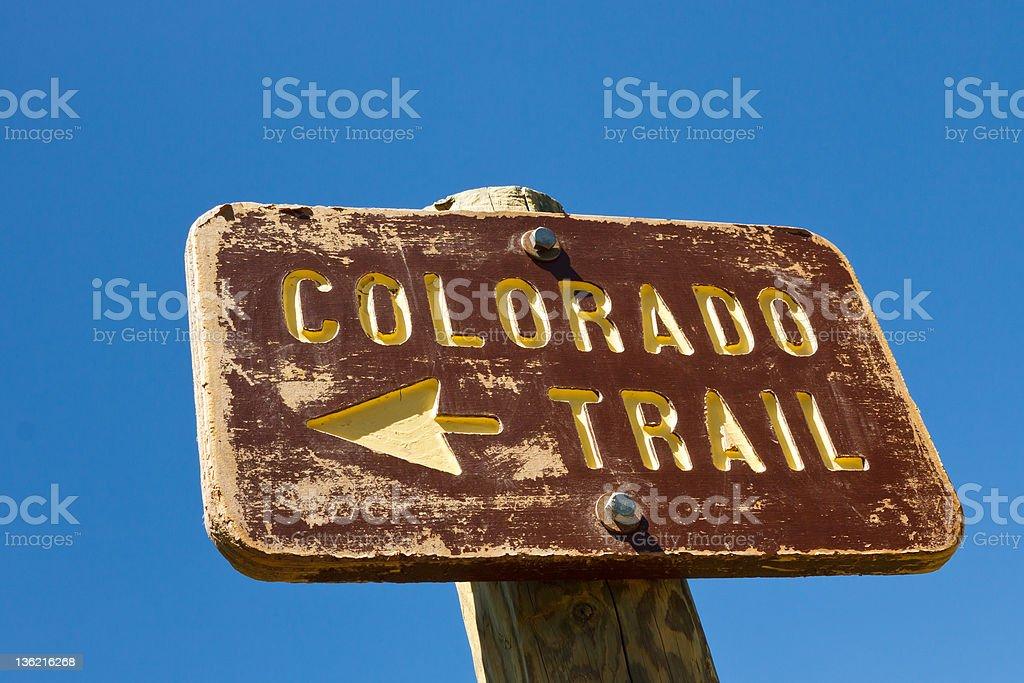 Colorado Trail Sign stock photo