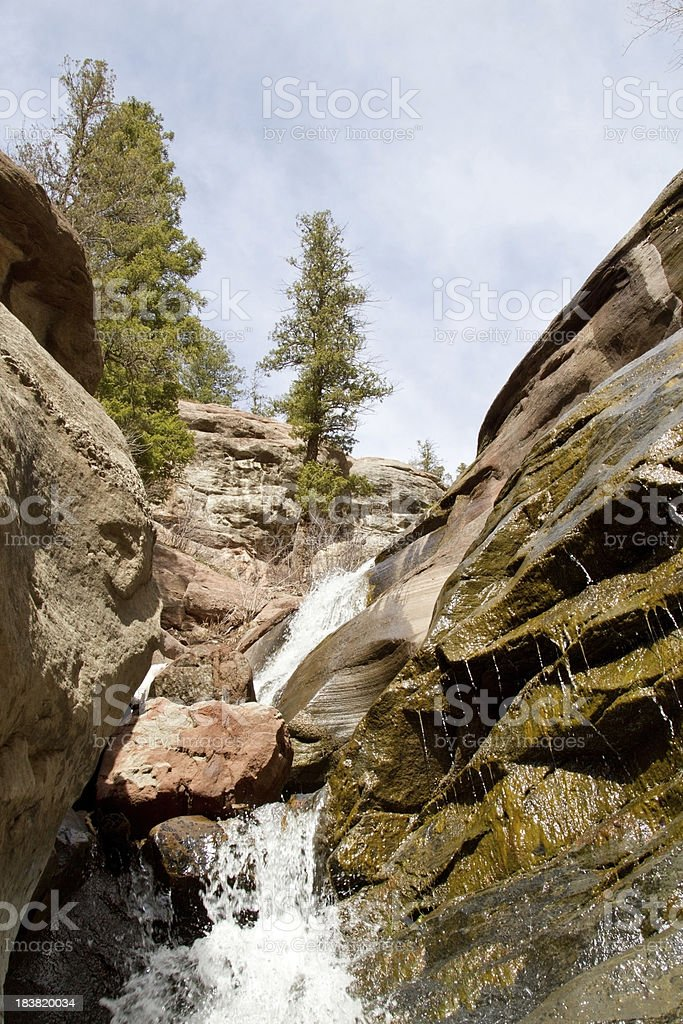 Colorado Waterfall royalty-free stock photo