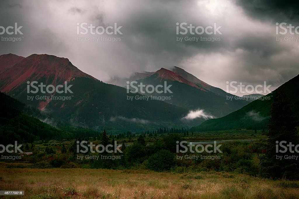 Colorado's Red Mountain stock photo