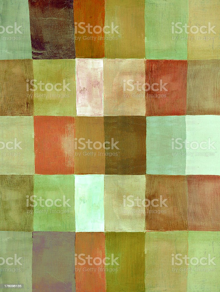 Colorblocked Green and Brown Pattern royalty-free stock photo