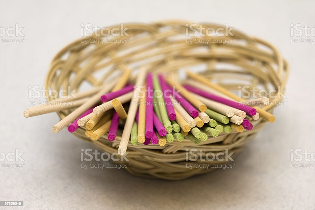 Colored Aromatic Sticks royalty-free stock photo