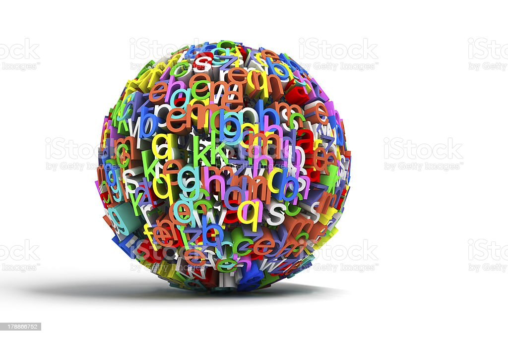 colored ball letters royalty-free stock photo