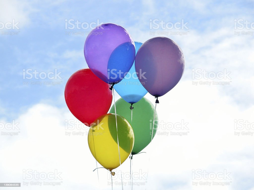 Colored Balloons royalty-free stock photo
