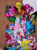 Colored balloons (Alba, Piedmont, Italy)