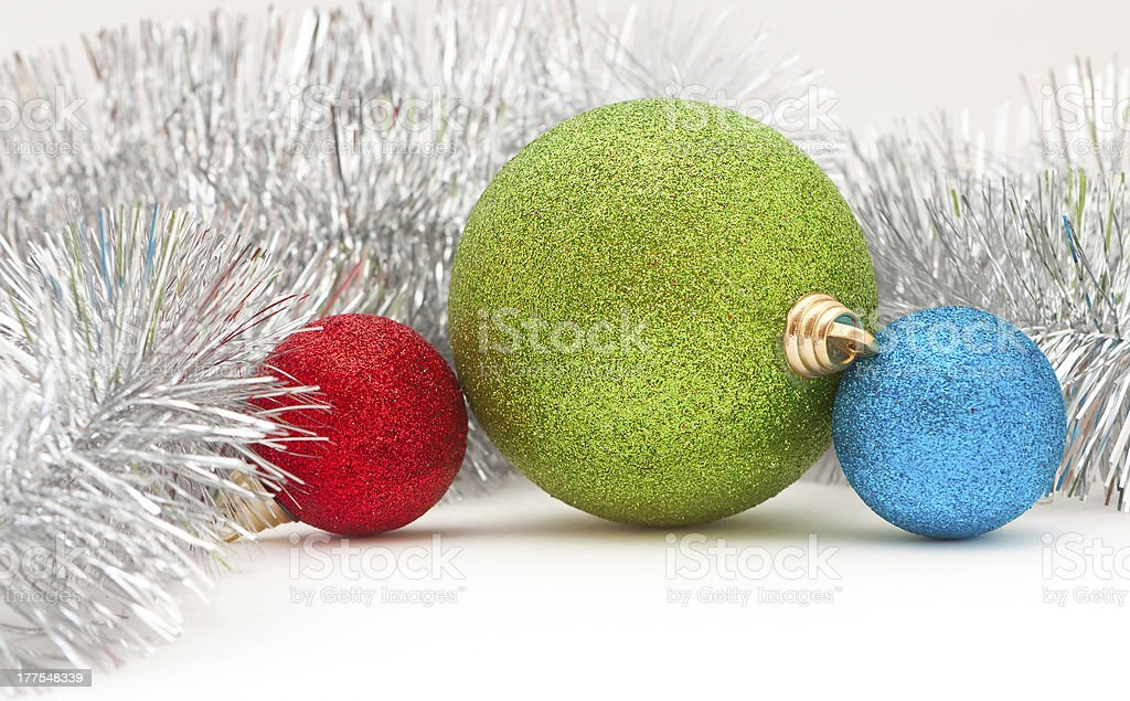 colored balls and garland royalty-free stock photo