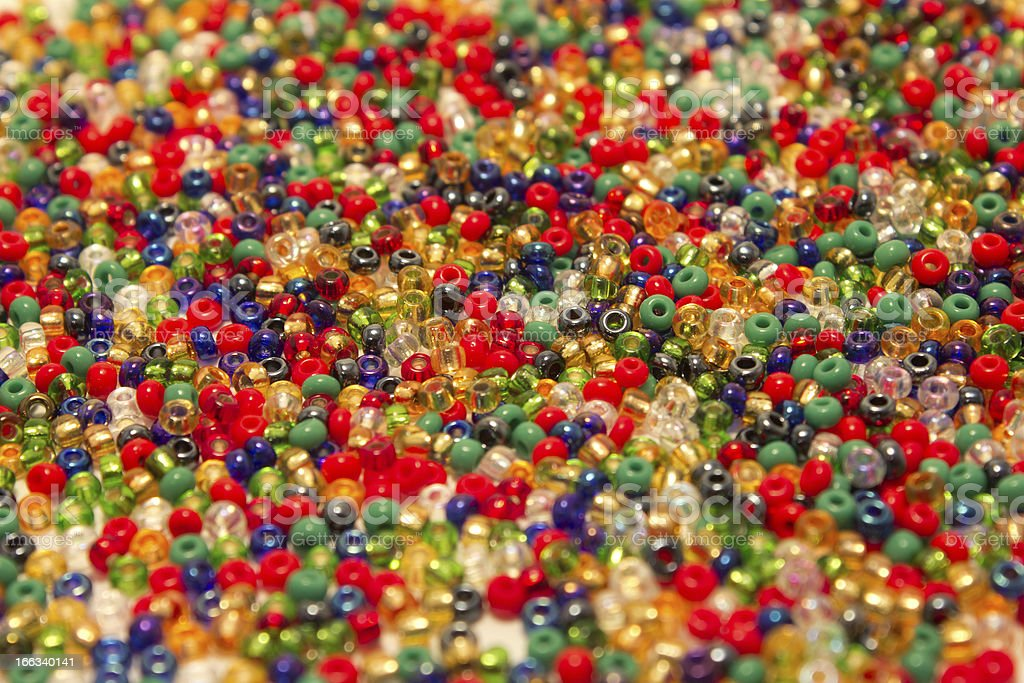 colored beads closeup royalty-free stock photo
