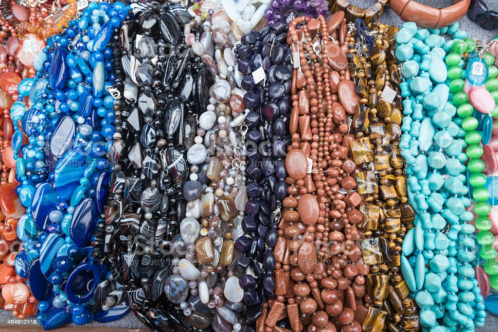 Colored beads stock photo