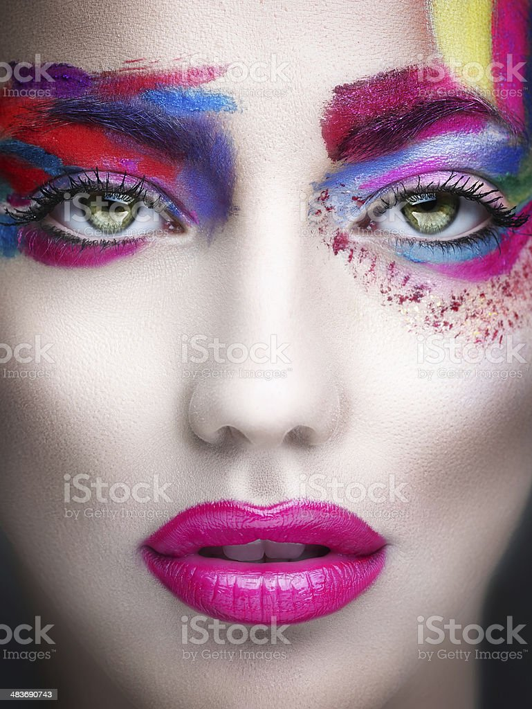 Colored beauty stock photo