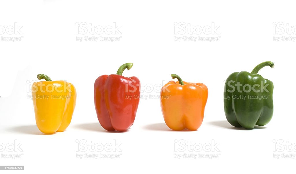 Colored Bell Peppers royalty-free stock photo
