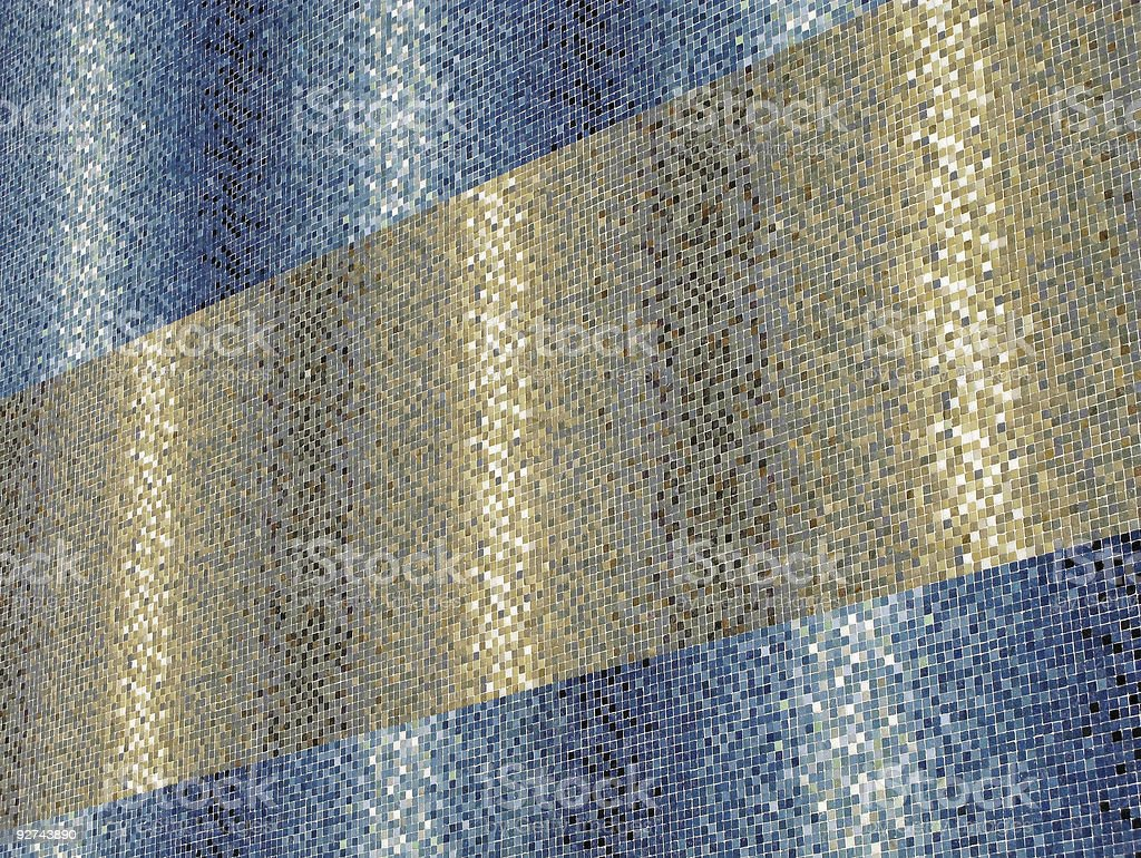 Colored blue and golden tiles royalty-free stock photo