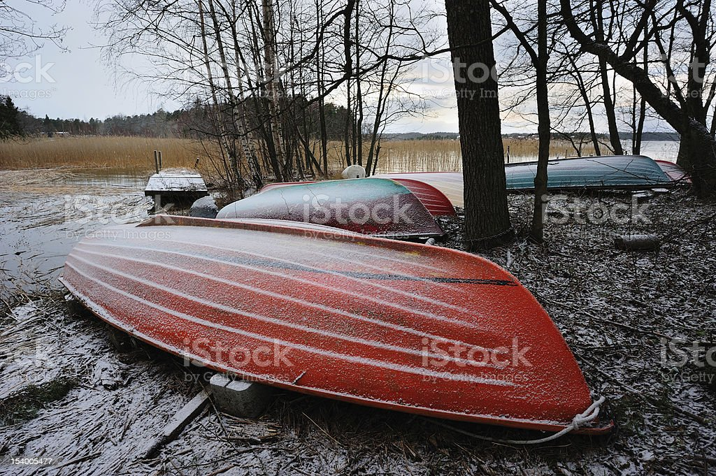 Colored boats royalty-free stock photo