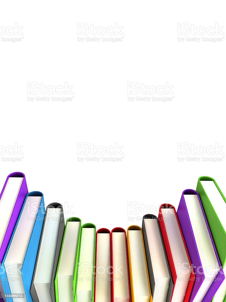 colored books isolated on white royalty-free stock photo