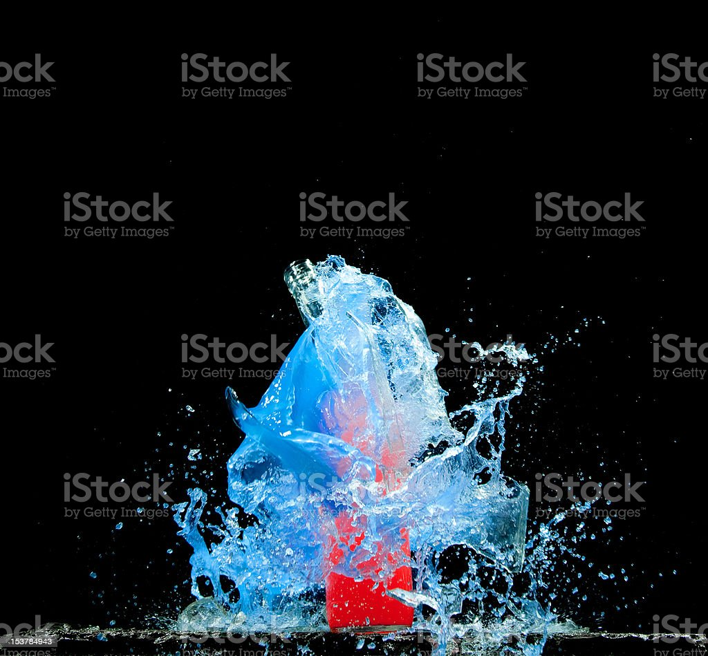 Colored Bottles stock photo