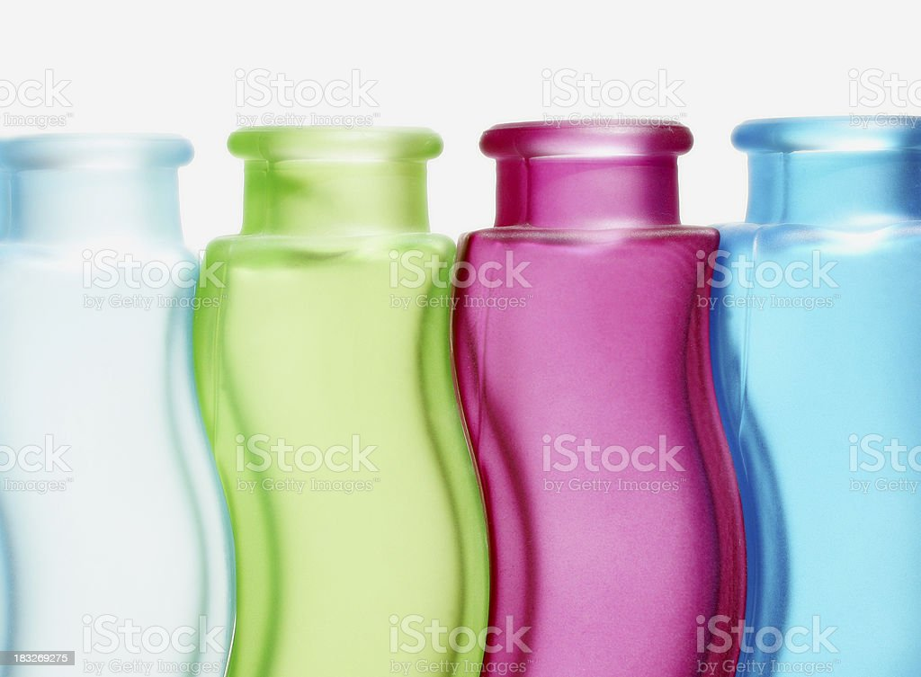 colored bottles royalty-free stock photo
