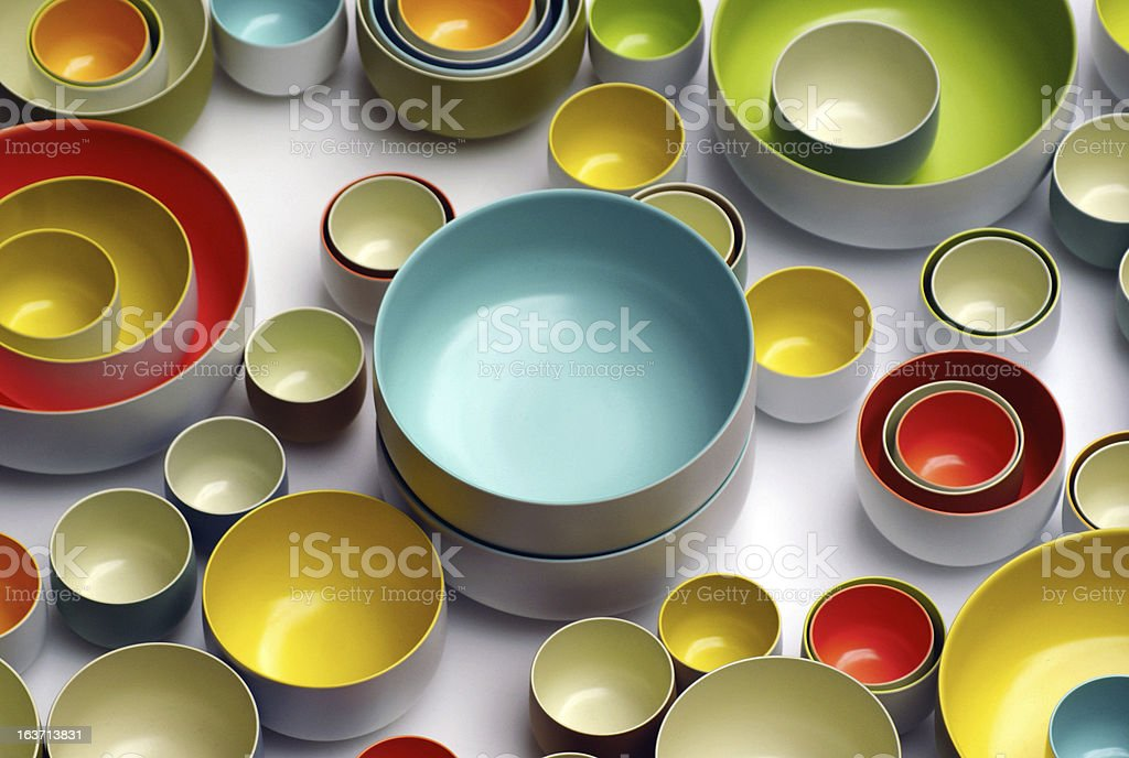 Colored Bowls royalty-free stock photo