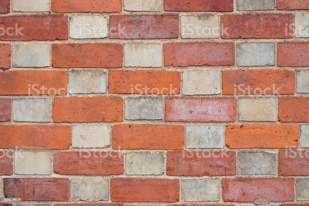 Colored brick wall stock photo