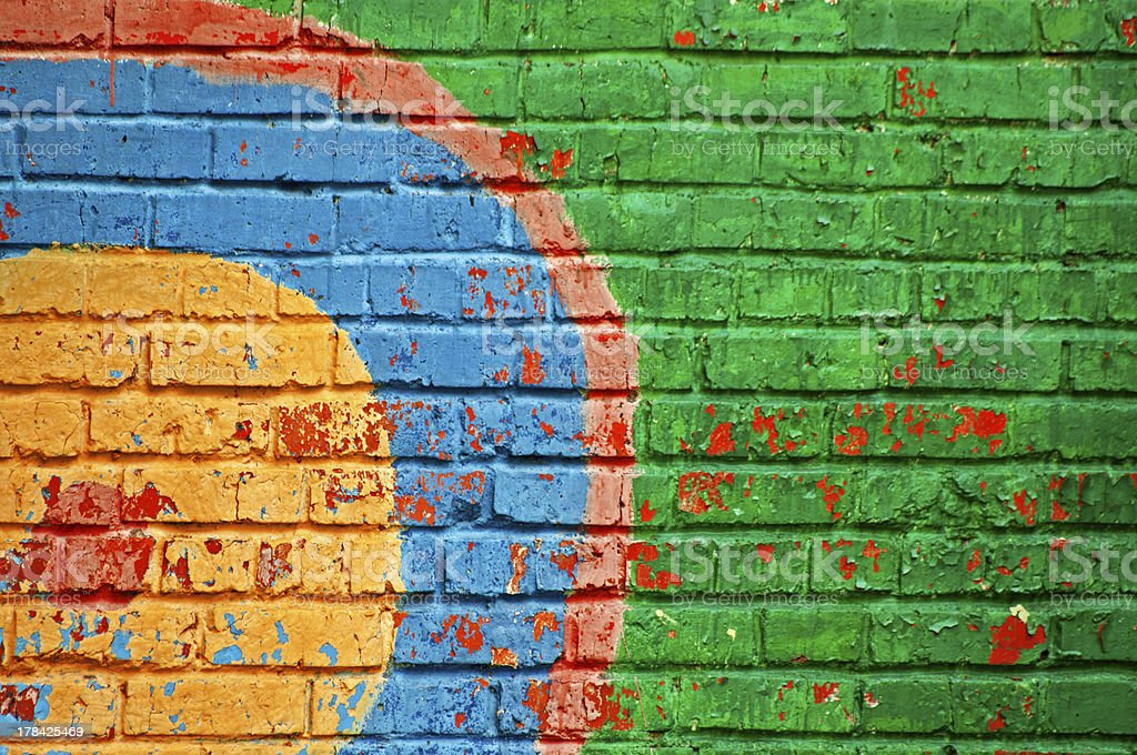colored bricks wall background royalty-free stock photo