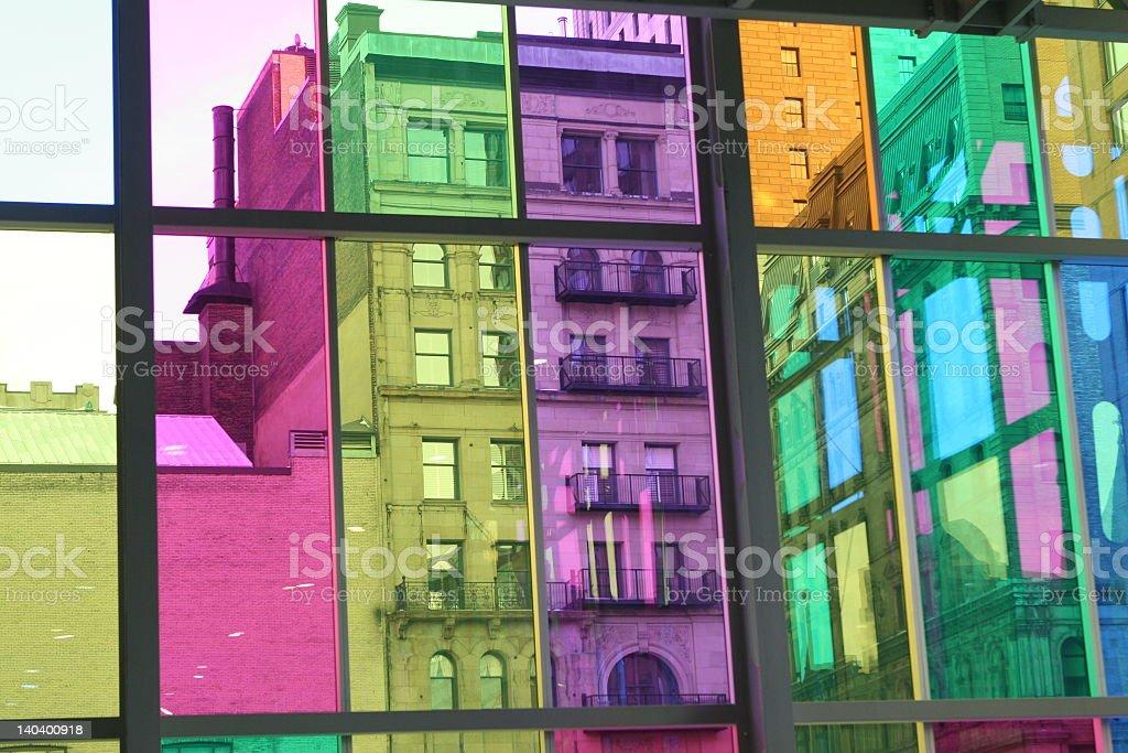 Bâtiments de couleur photo libre de droits