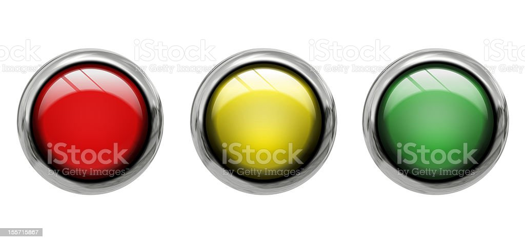 Colored buttons front view royalty-free stock photo