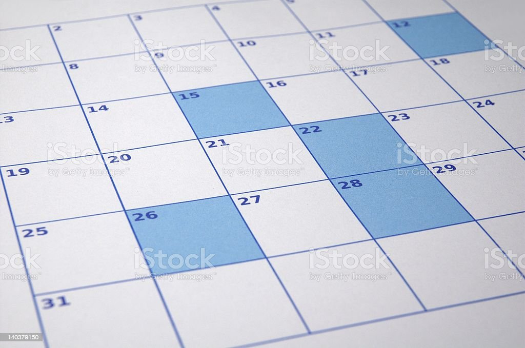 colored calendar royalty-free stock photo