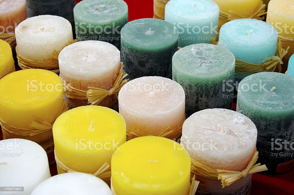 Colored candles royalty-free stock photo