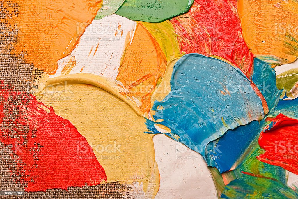 Colored Canvas royalty-free stock photo