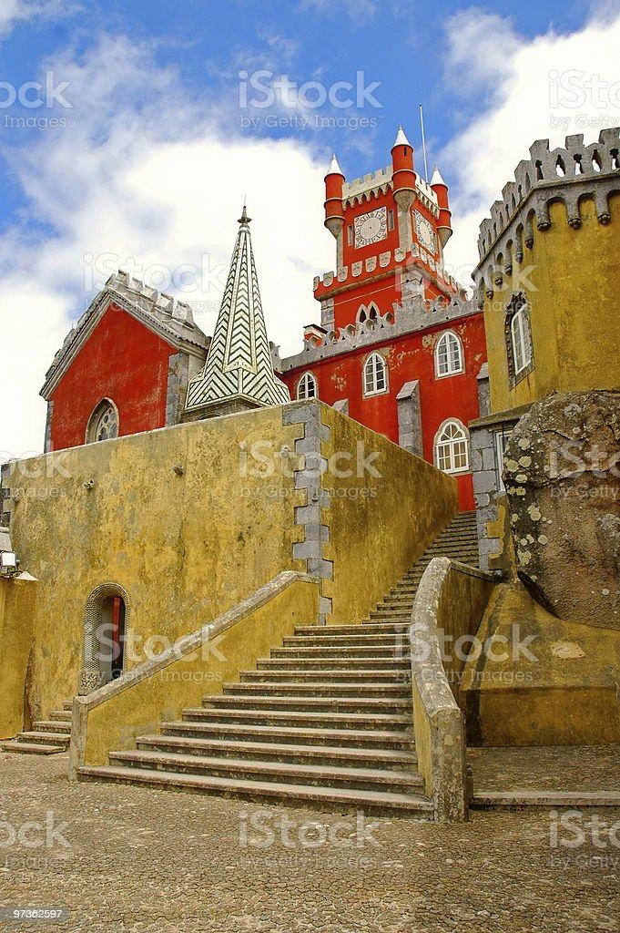 Colored Castle stock photo