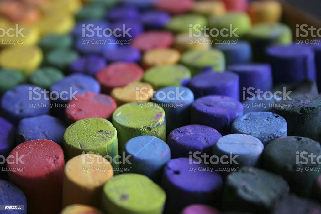 colored chalk royalty-free stock photo