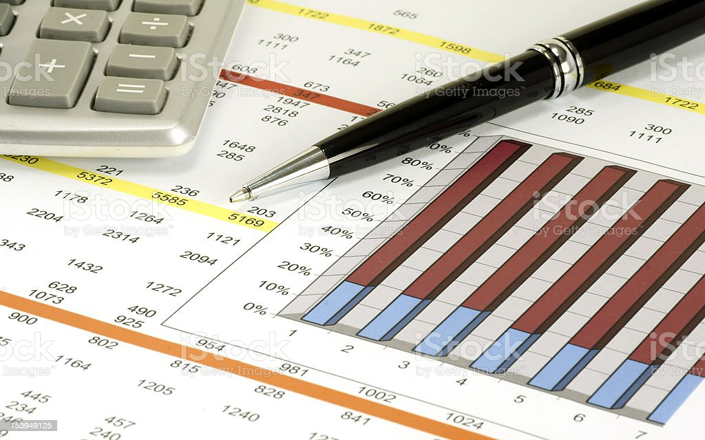 Colored Charts royalty-free stock photo