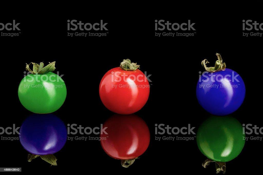 Tomates cereza color foto de stock libre de derechos