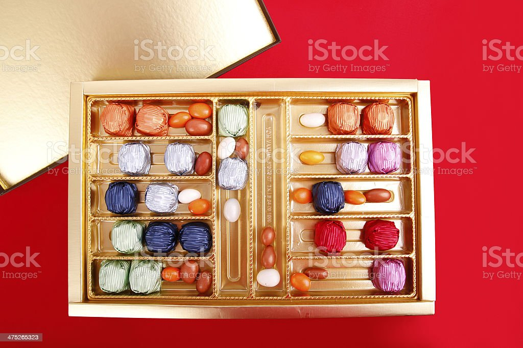 colored chocolates stock photo