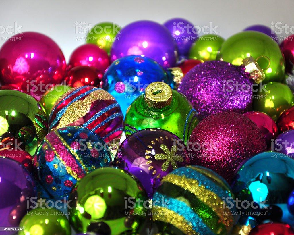 채색기법 크리스마스 baubles royalty-free 스톡 사진