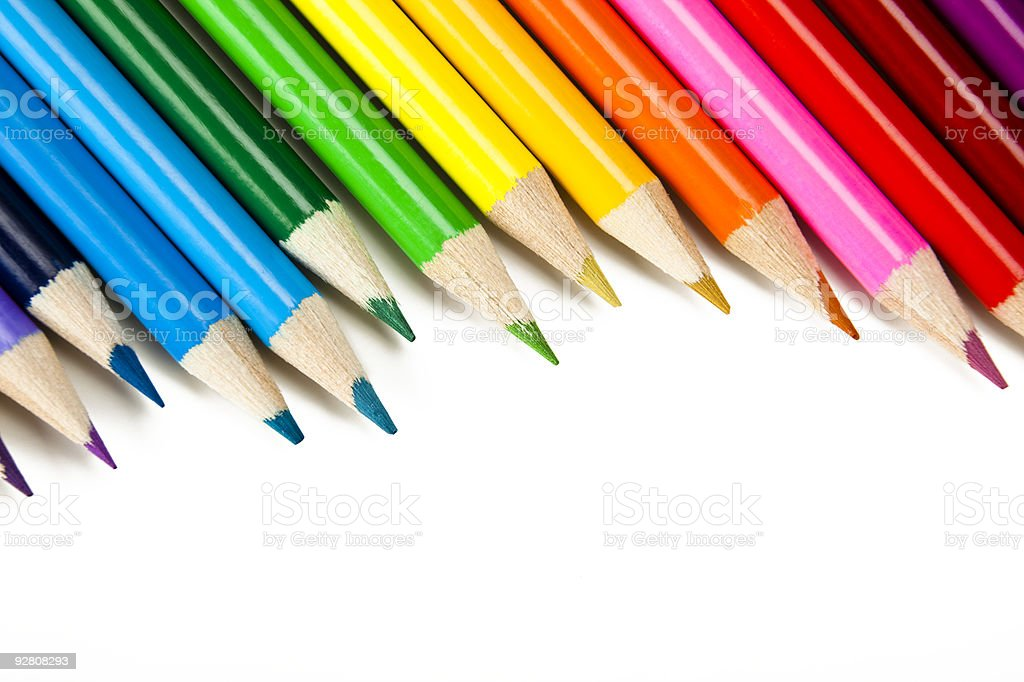 colored crayon royalty-free stock photo