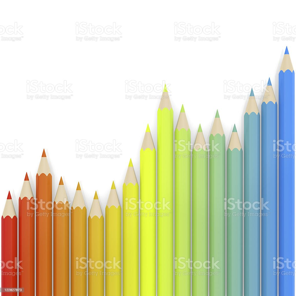 Colored Crayons royalty-free stock photo