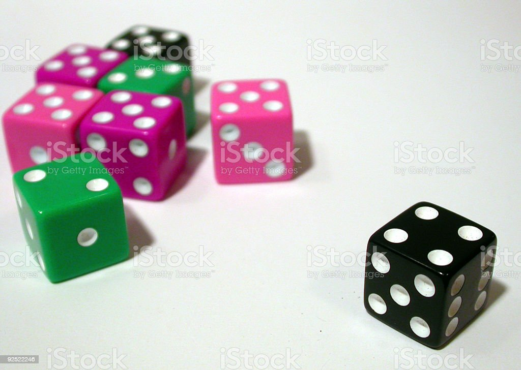 Colored Dice royalty-free stock photo