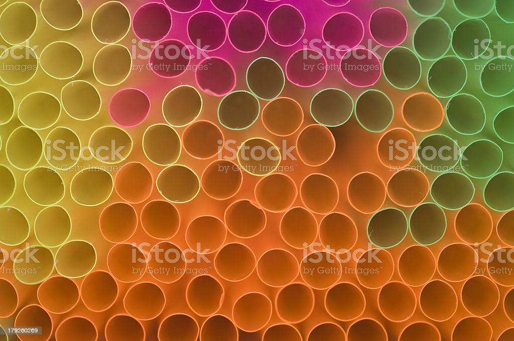 colored drinking straw background royalty-free stock photo