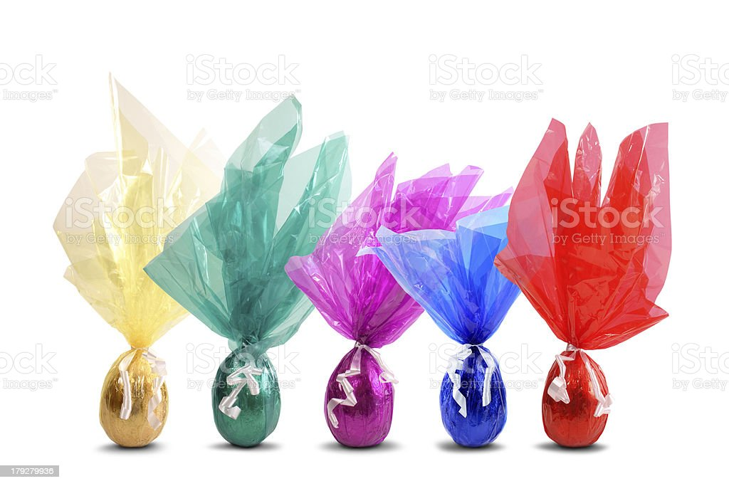 Colored easter eggs royalty-free stock photo