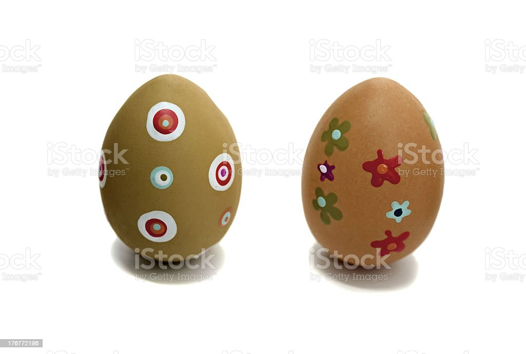 Colored Easter time royalty-free stock photo