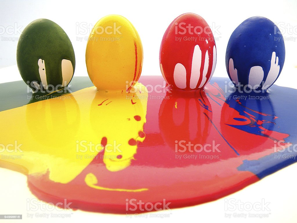 Ovos coloridos foto de stock royalty-free