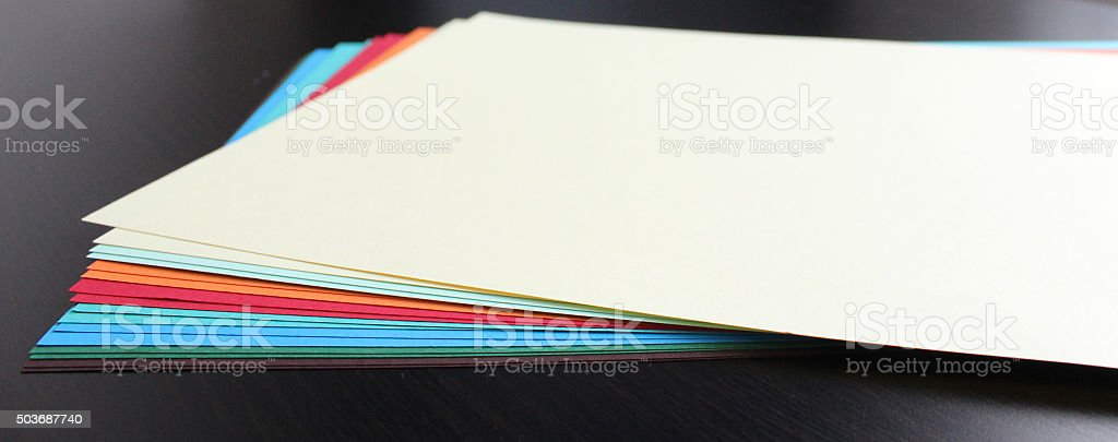 Colored examples of craft paper stock photo