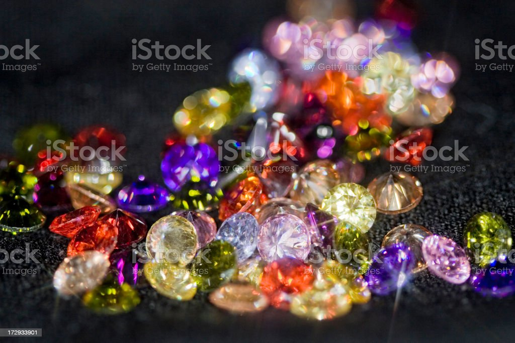 Colored Fantasy Gemstones royalty-free stock photo