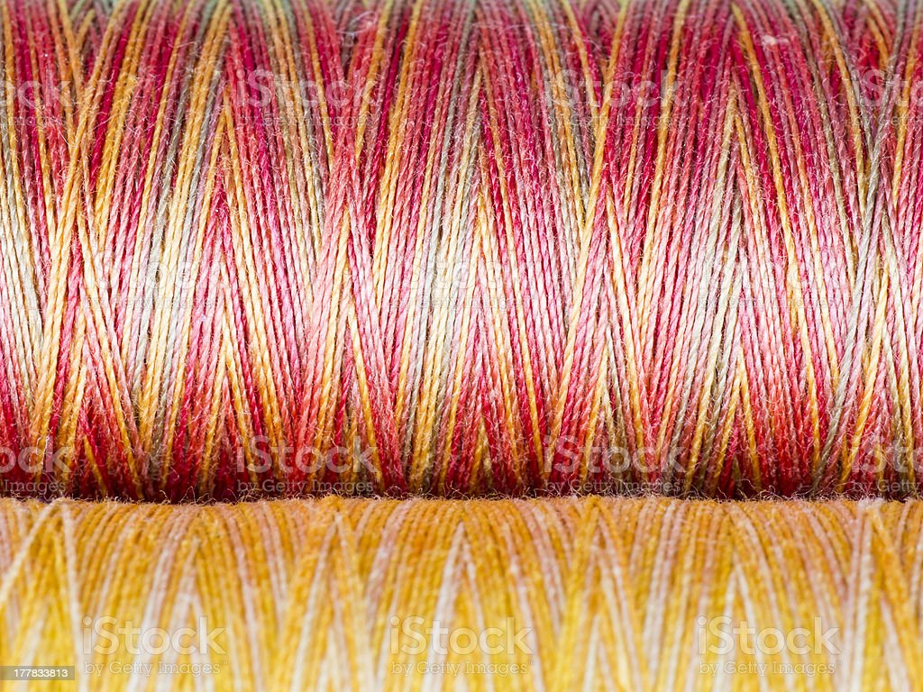 Colored Fibre Texture. Spools. Macro Photography. royalty-free stock photo