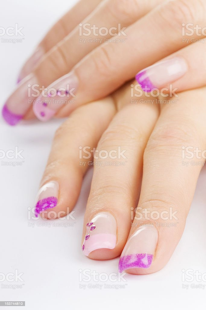 colored finger nails royalty-free stock photo