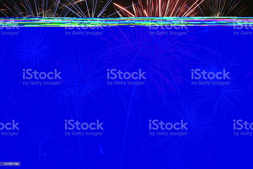 Colored fireworks on black background royalty-free stock photo