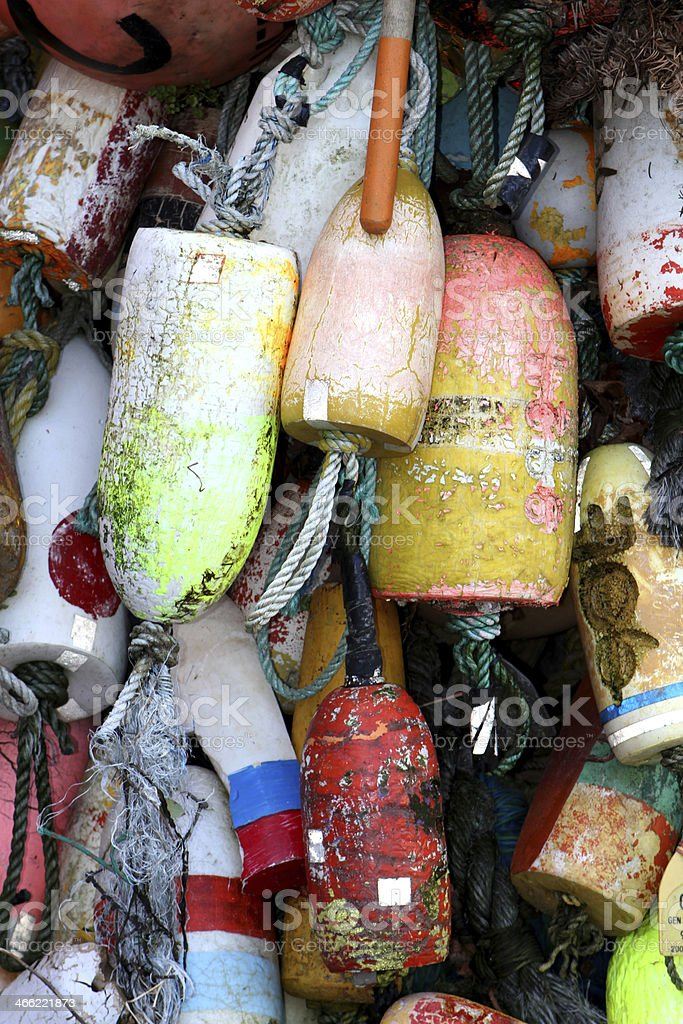 Colored Fishing Floats stock photo