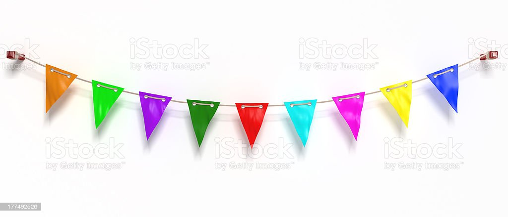 colored flags stock photo