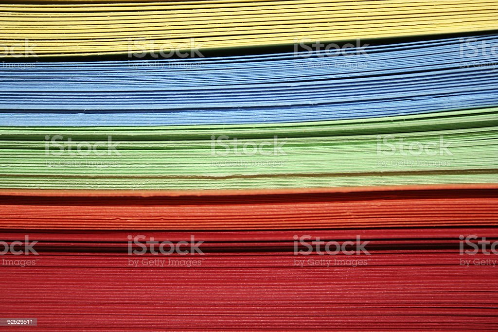 Colored folders 3 stock photo