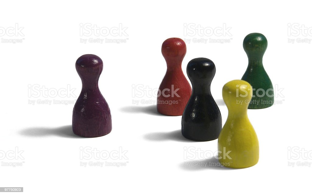 colored gaming figures royalty-free stock photo