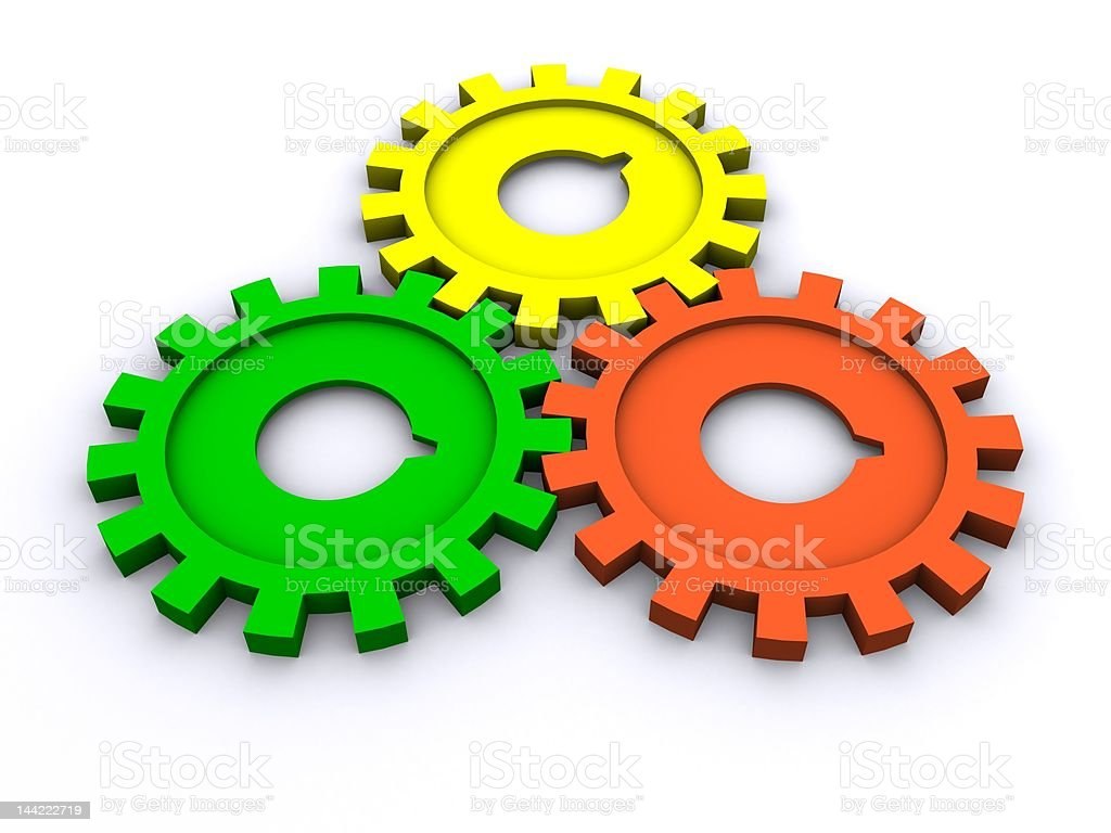colored gears royalty-free stock photo